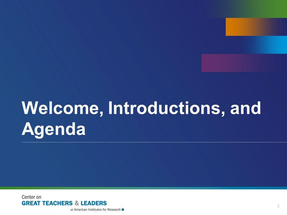Welcome, Introductions, and Agenda