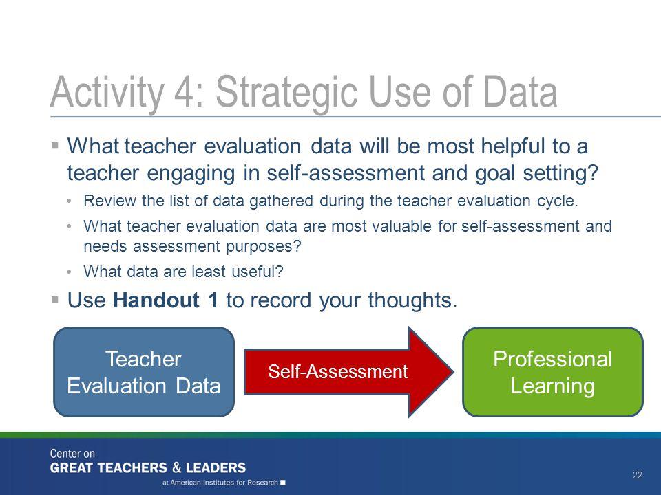 Activity 4: Strategic Use of Data