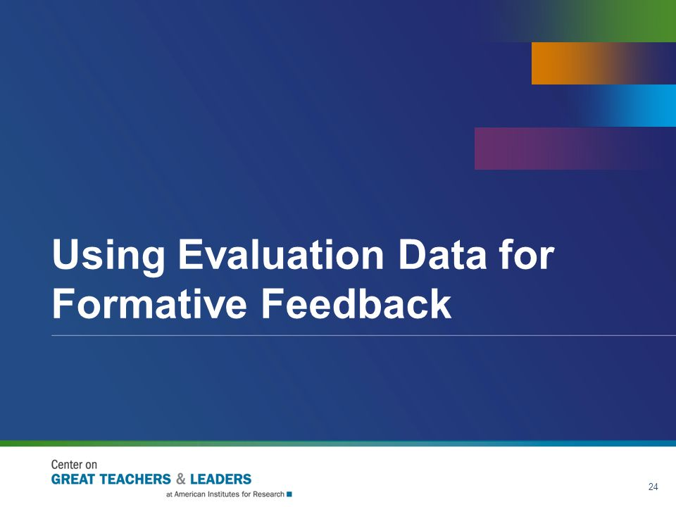 Using Evaluation Data for Formative Feedback