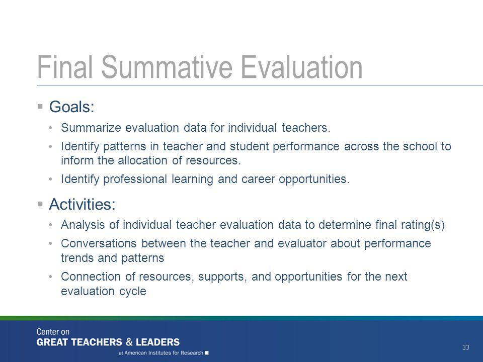 Final Summative Evaluation