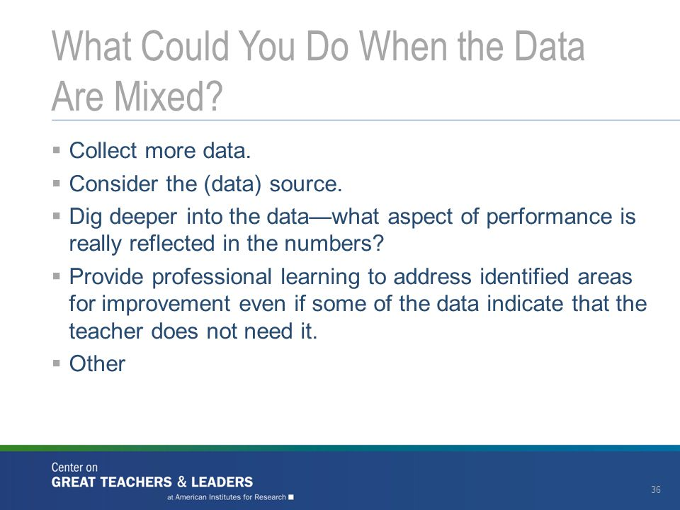 What Could You Do When the Data Are Mixed