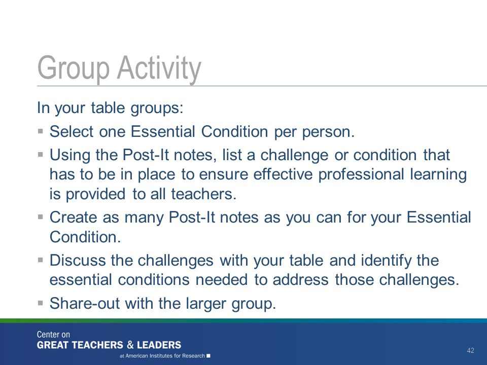 Group Activity In your table groups: