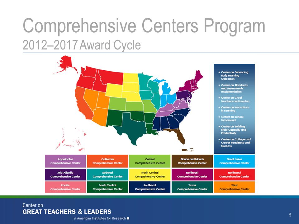 Comprehensive Centers Program 2012–2017 Award Cycle