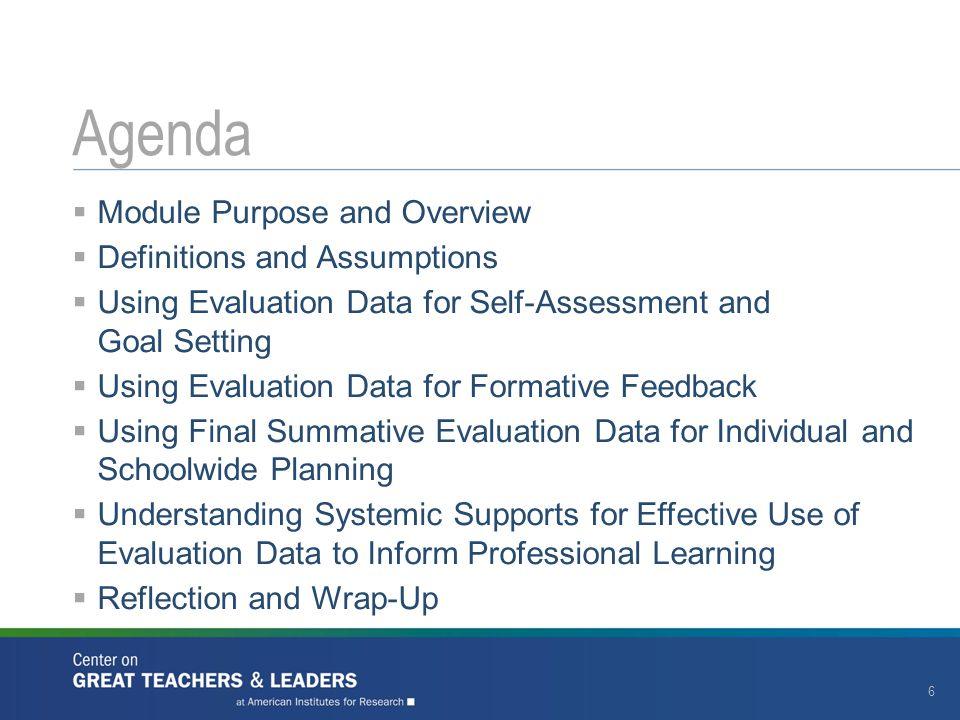 Agenda Module Purpose and Overview Definitions and Assumptions