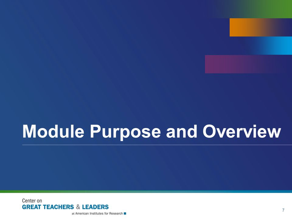 Module Purpose and Overview