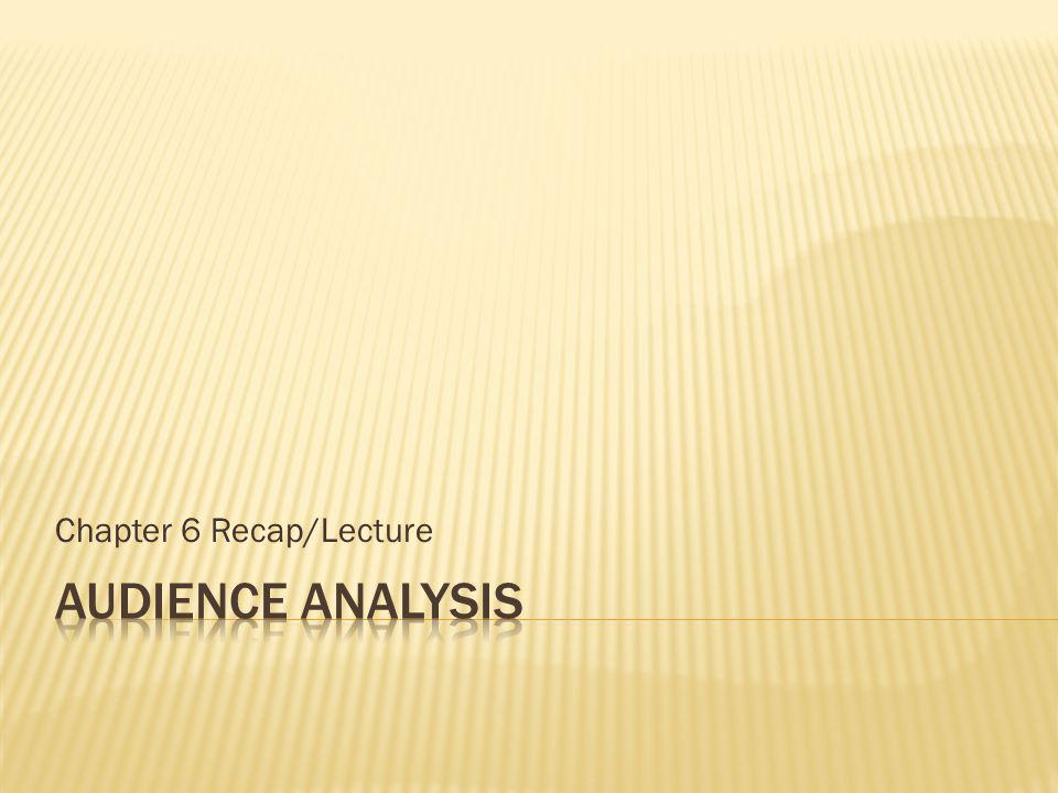 Chapter 6 Recap/Lecture
