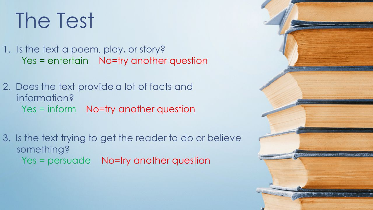 The Test Is the text a poem, play, or story