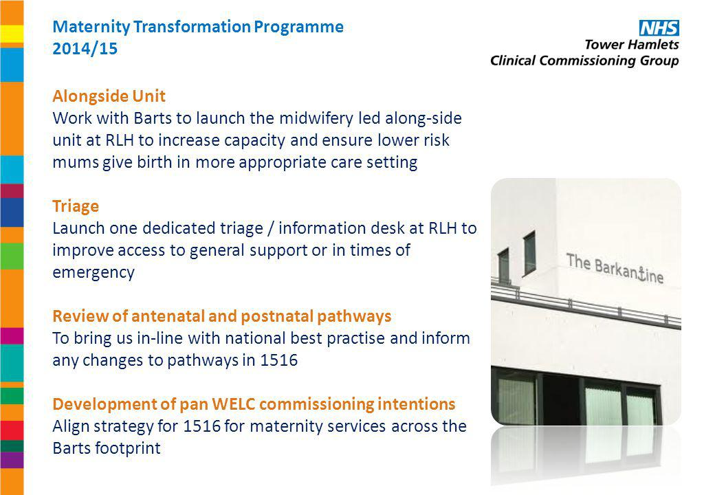Maternity Transformation Programme 2014/15