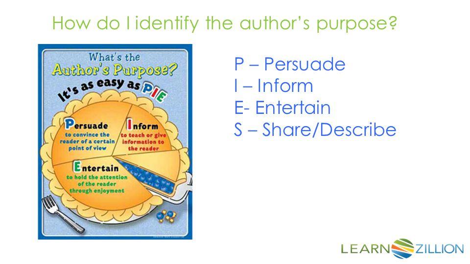 How do I identify the author's purpose