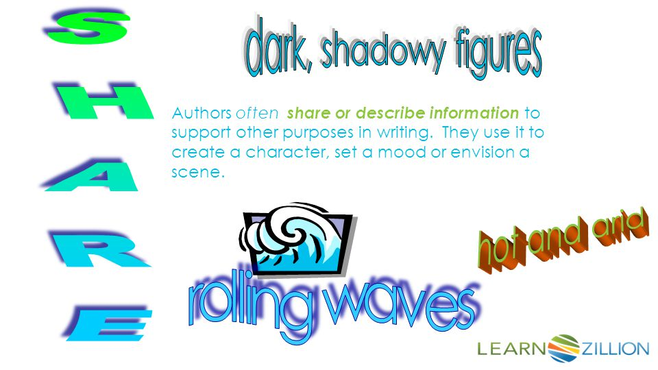 dark, shadowy figures SHARE hot and arid rolling waves