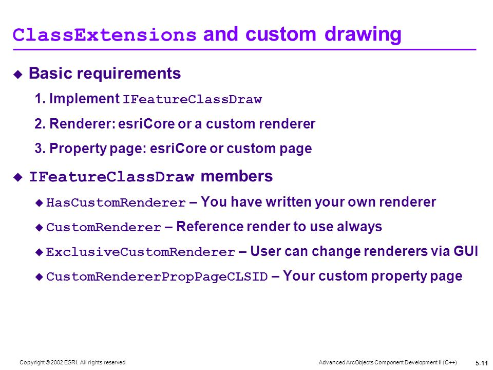 ClassExtensions and custom drawing