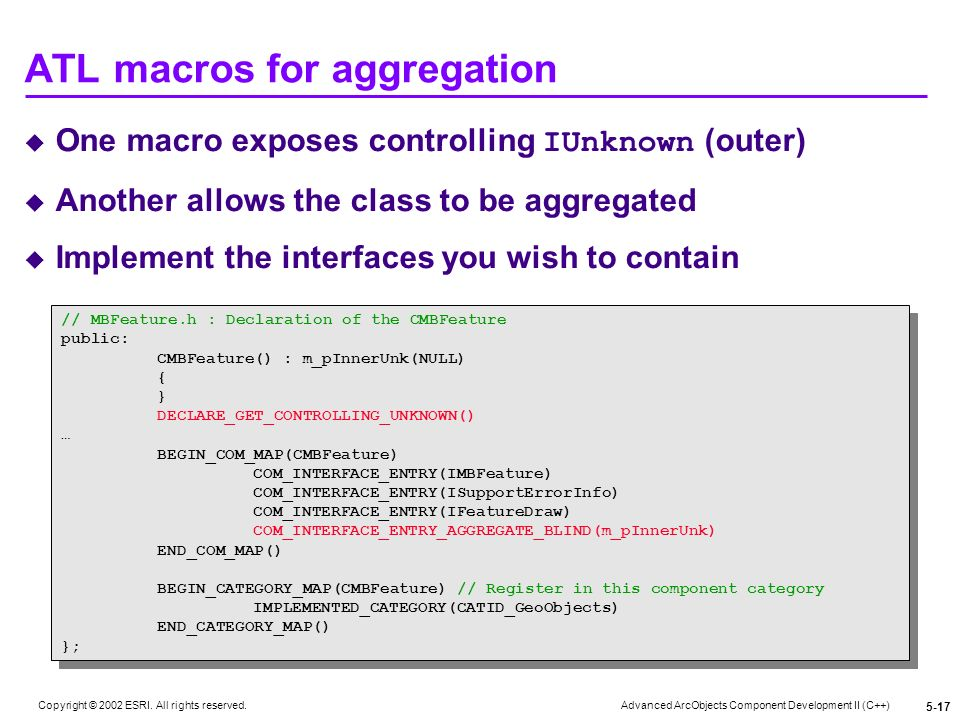 ATL macros for aggregation