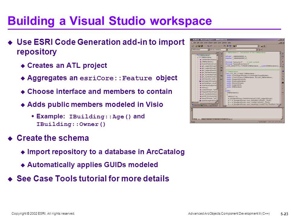 Building a Visual Studio workspace