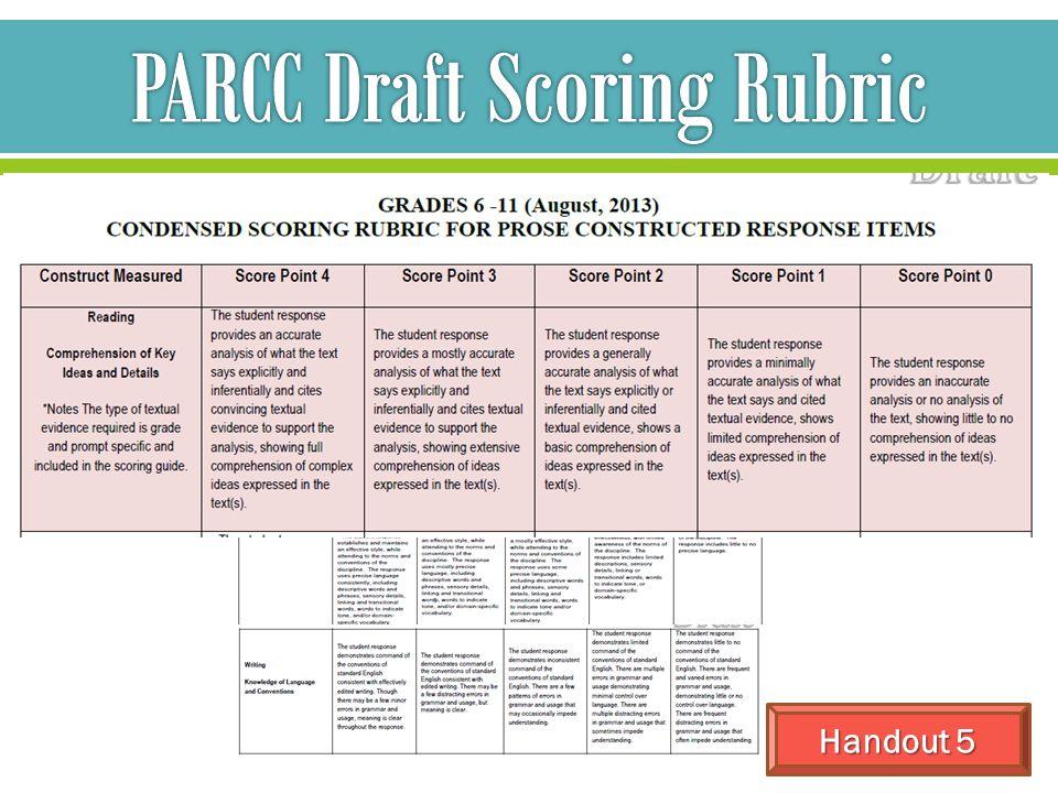 PARCC Draft Scoring Rubric