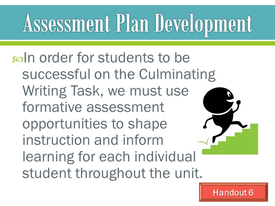 Assessment Plan Development