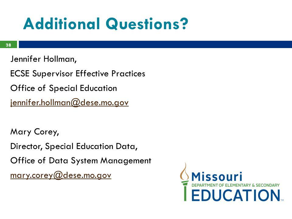 Additional Questions Jennifer Hollman,