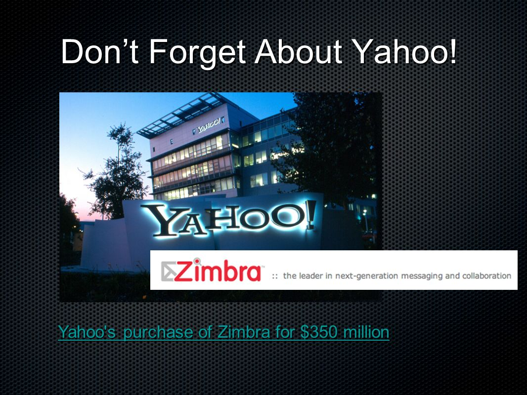 Don't Forget About Yahoo!