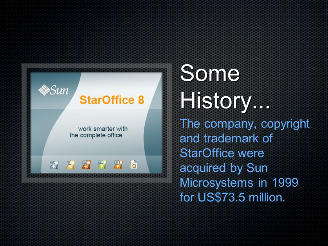 Some History...