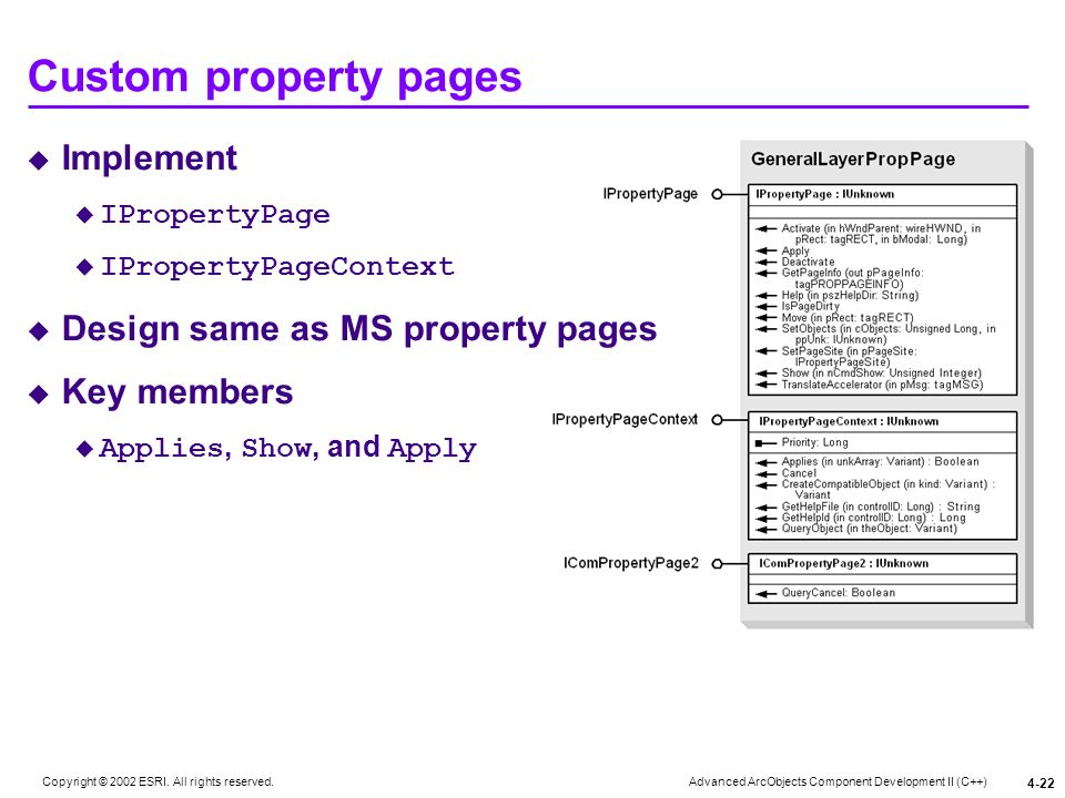 Custom property pages Implement Design same as MS property pages