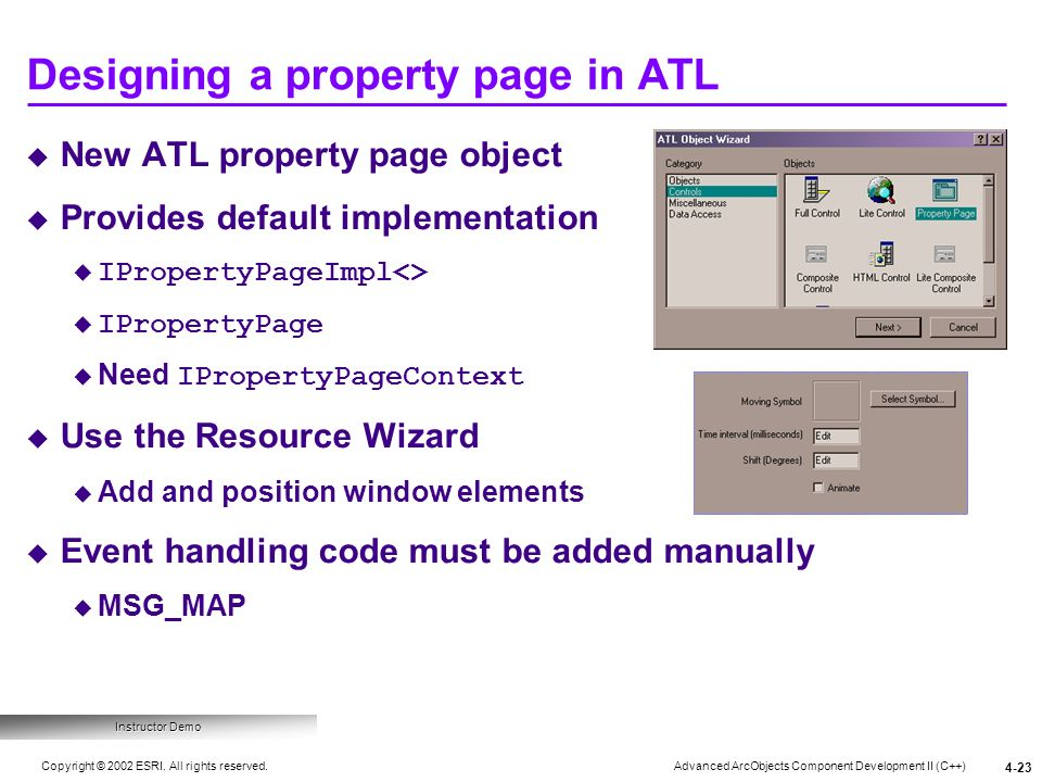 Designing a property page in ATL