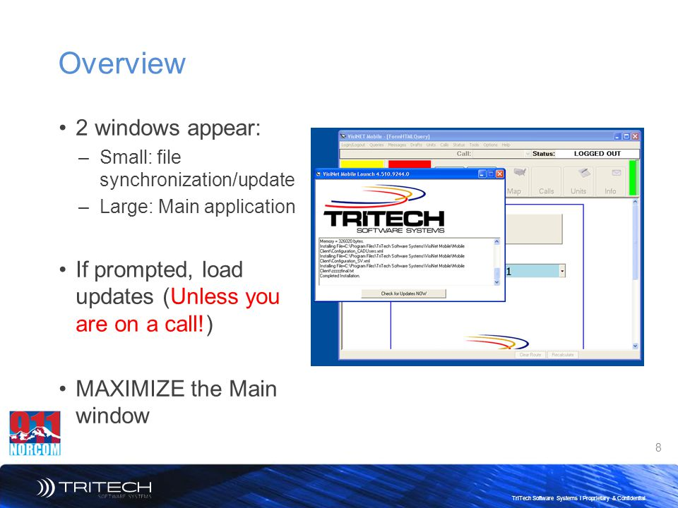Overview 2 windows appear: