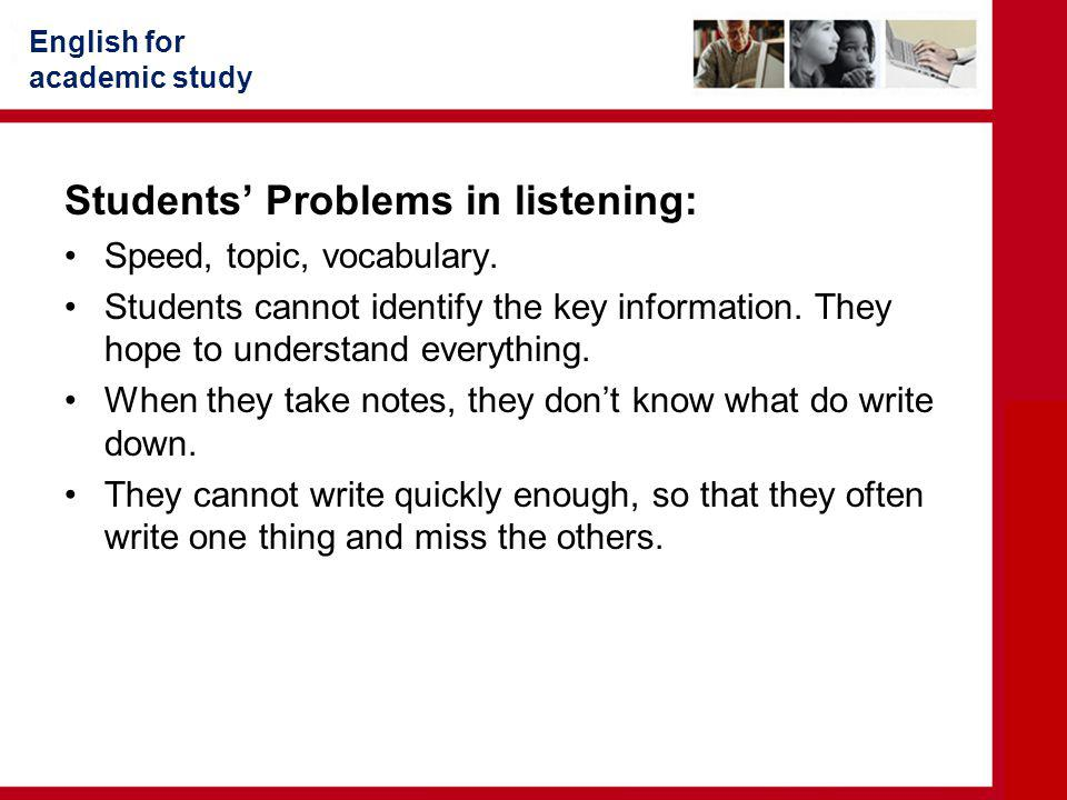 Students' Problems in listening: