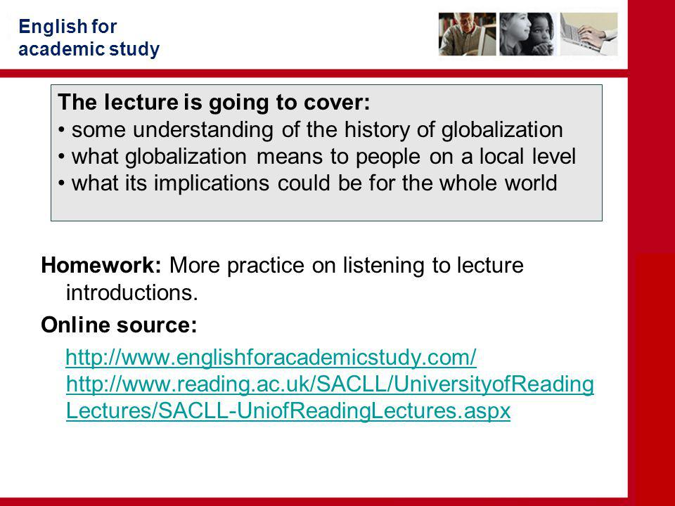 The lecture is going to cover: