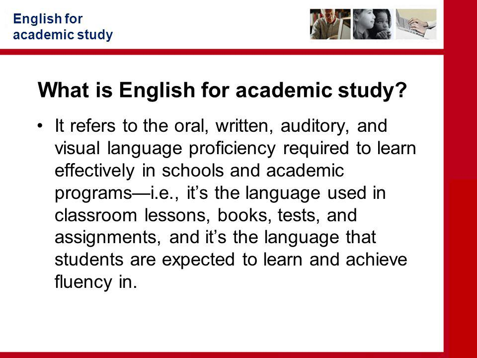 What is English for academic study