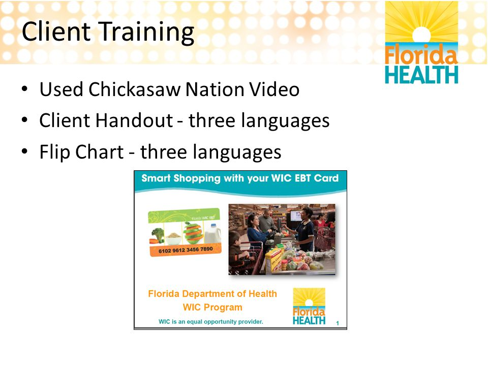 Client Training Used Chickasaw Nation Video