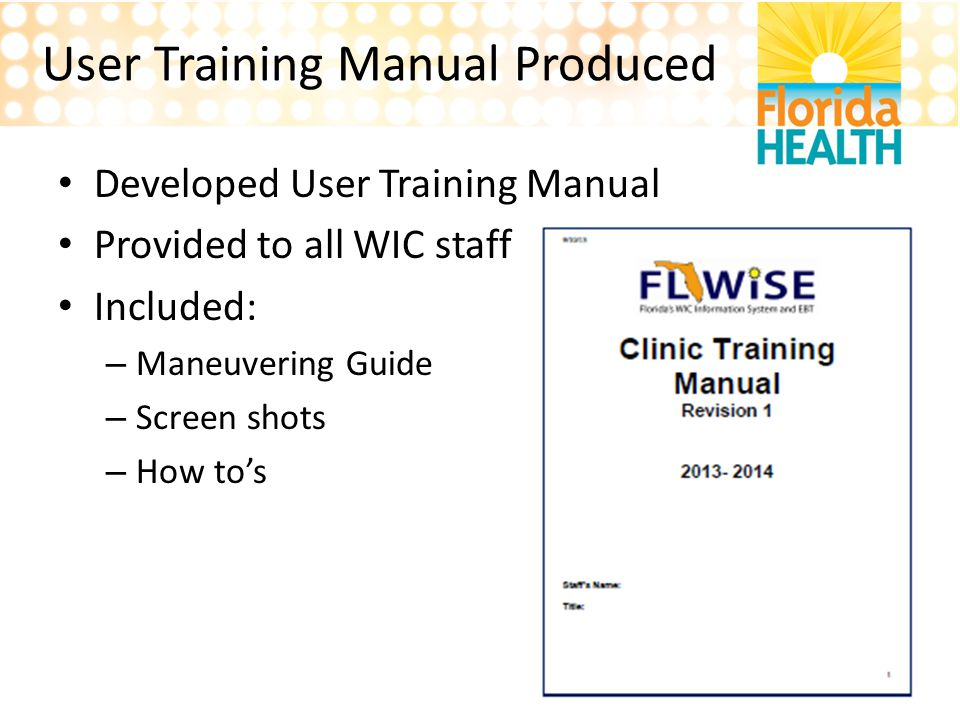 User Training Manual Produced