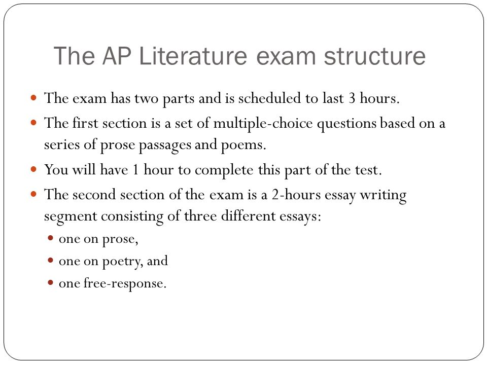 The AP Literature exam structure