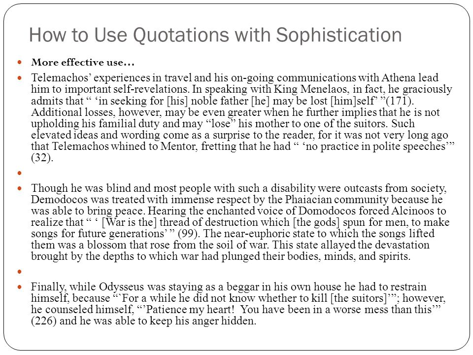 How to Use Quotations with Sophistication