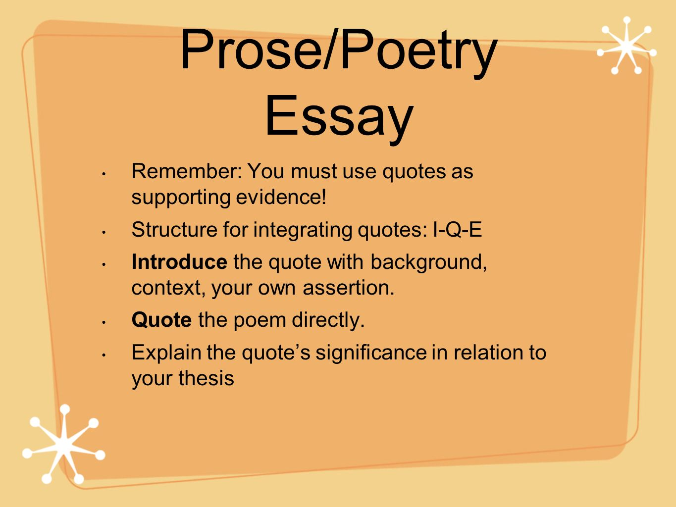 ap lit prose essay questions Ap® english literature and composition the score reflects the quality of the essay as a whole — its ap13_english literature and composition_q2 author.