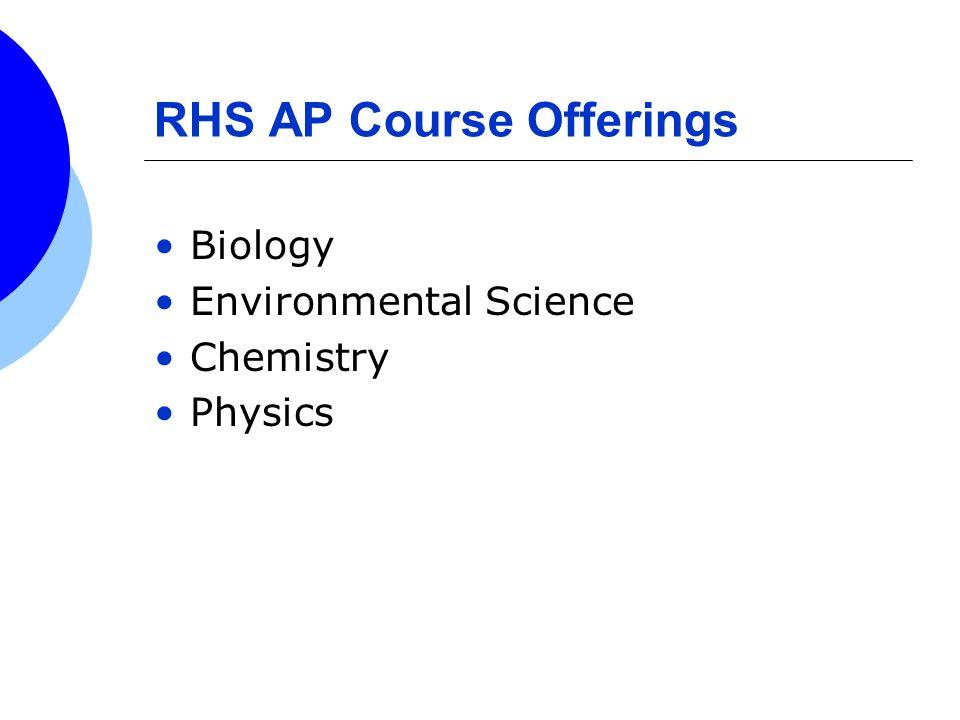 RHS AP Course Offerings