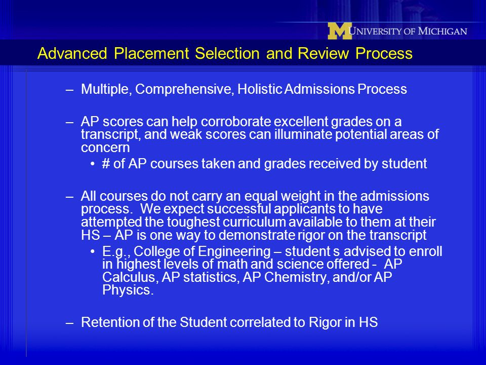 Advanced Placement Selection and Review Process