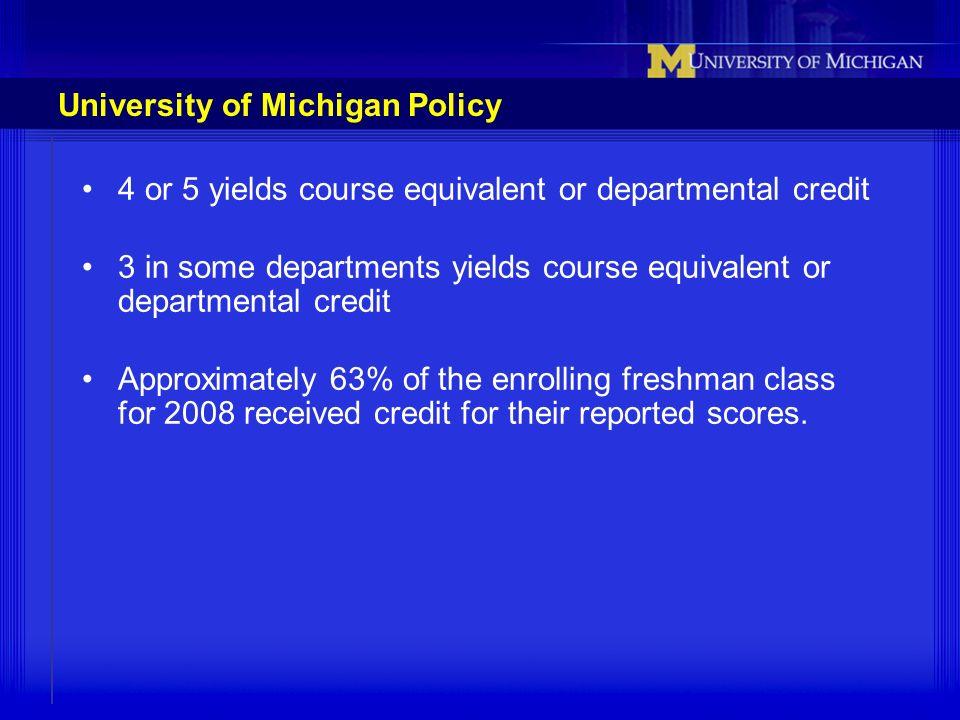 University of Michigan Policy