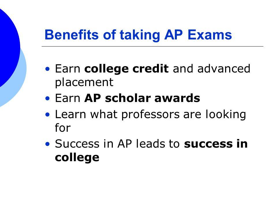 Benefits of taking AP Exams