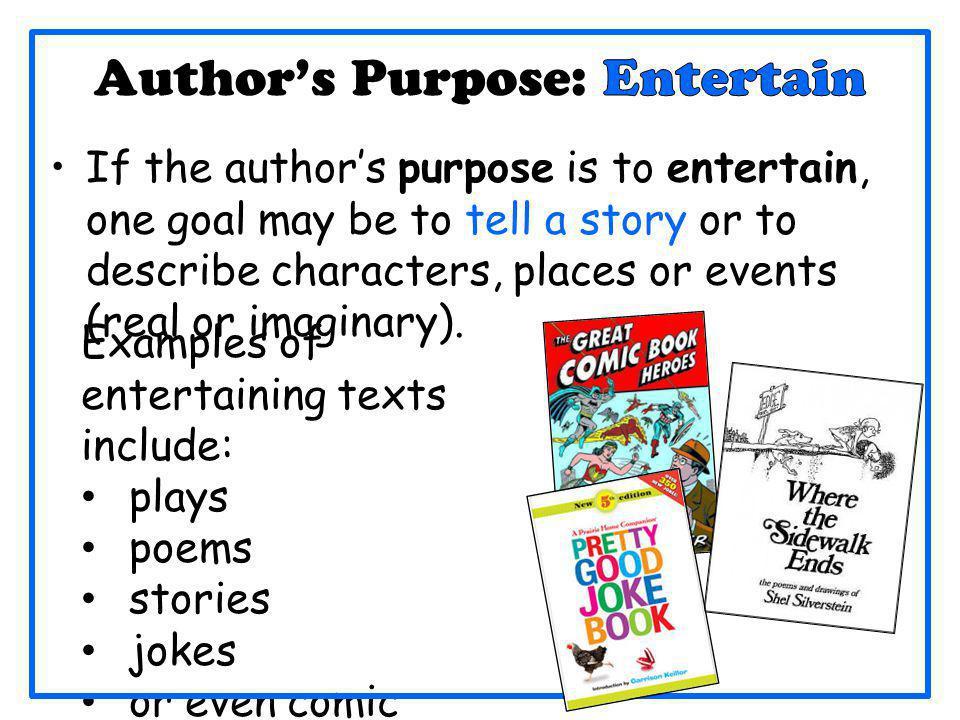 Author's Purpose: Entertain