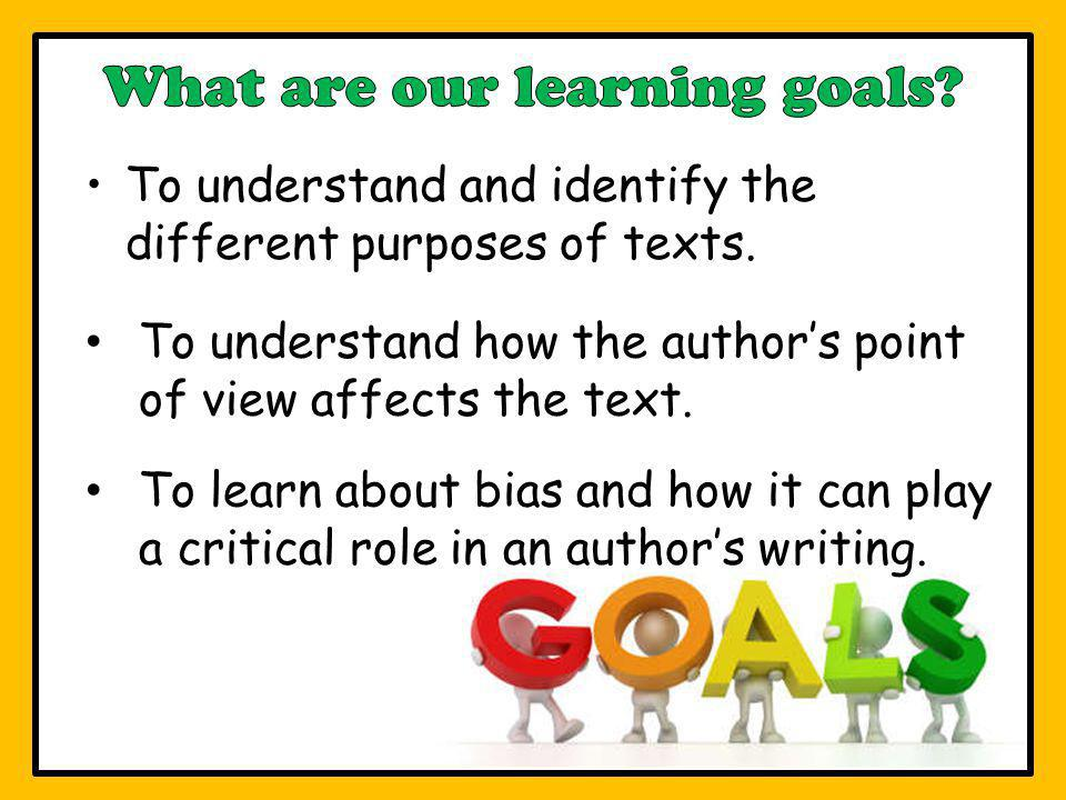 What are our learning goals