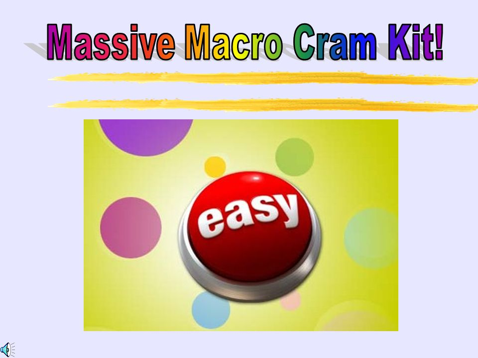Massive Macro Cram Kit!