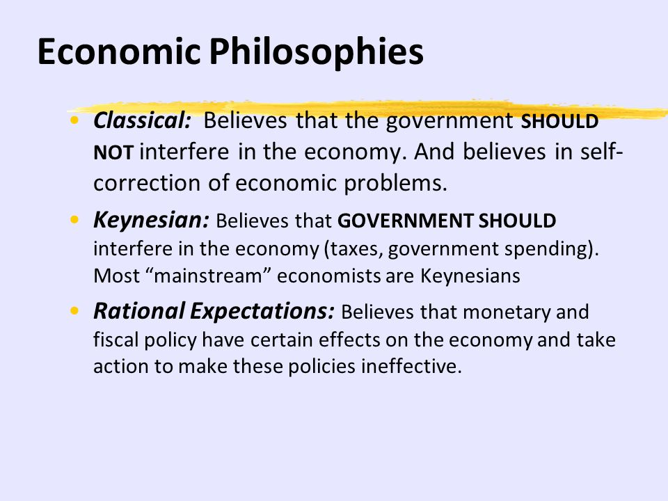 Economic Philosophies