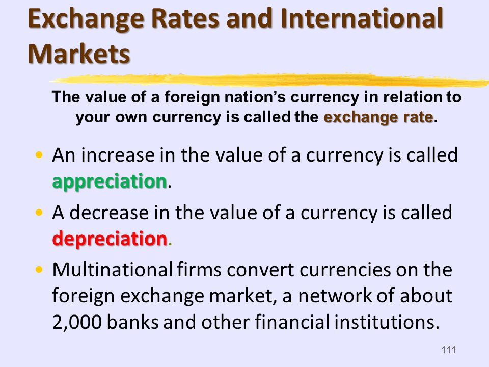 Exchange Rates and International Markets