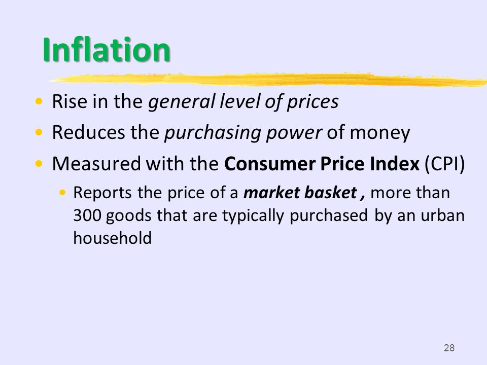 Inflation Rise in the general level of prices