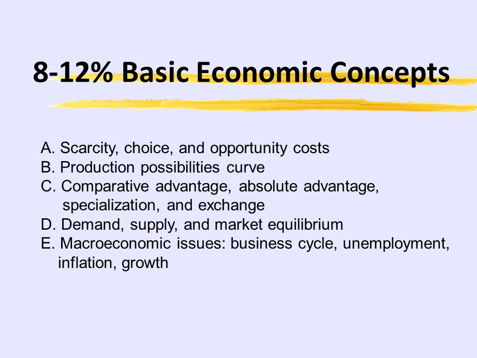 8-12% Basic Economic Concepts