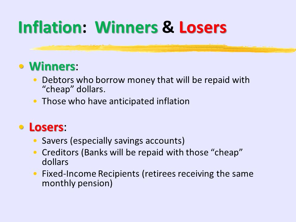 Inflation: Winners & Losers