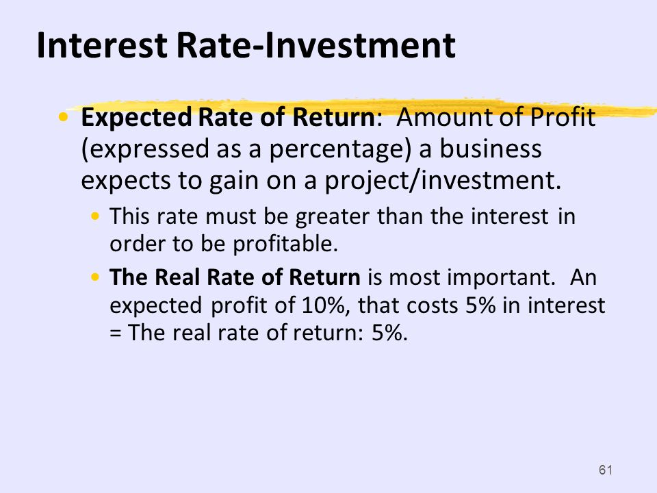Interest Rate-Investment