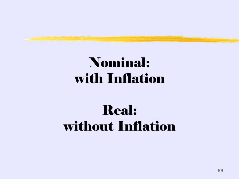 Nominal: with Inflation Real: without Inflation