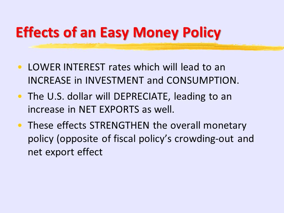 Effects of an Easy Money Policy