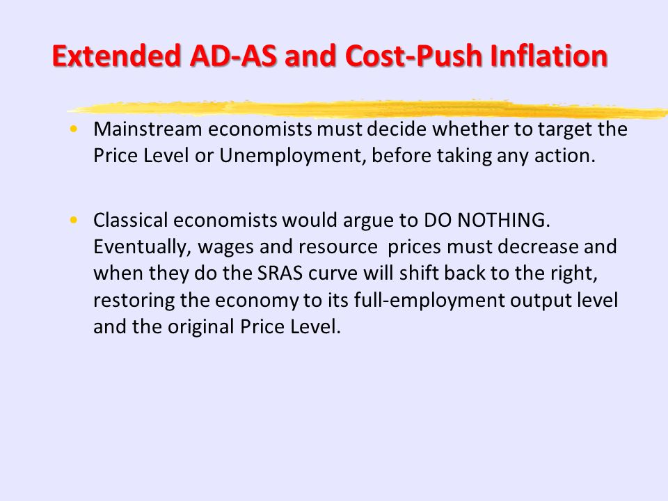 Extended AD-AS and Cost-Push Inflation