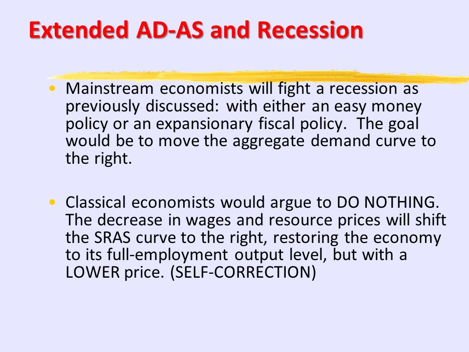 Extended AD-AS and Recession
